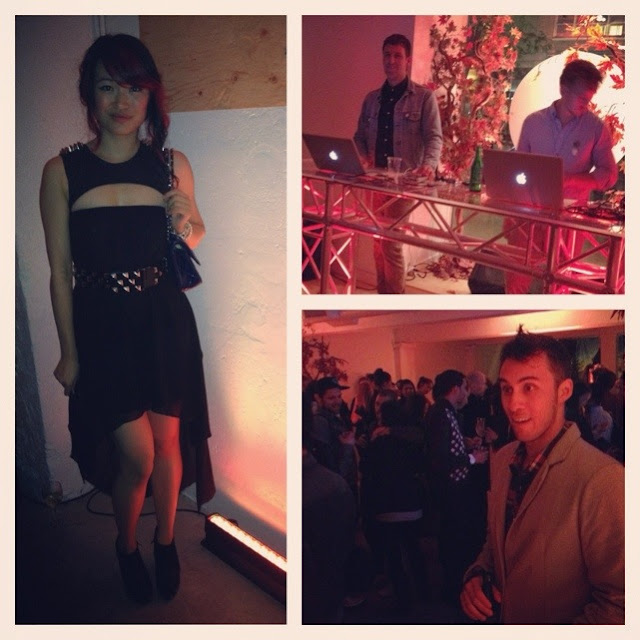 ion magazine x little burgundy after party, party scene, Vancouver, unif dress