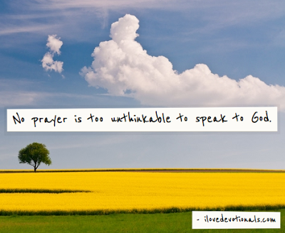 Unthinkable prayers