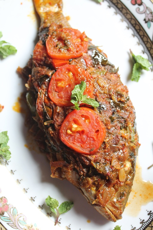 yummy tummy indian baked whole fish recipe baked masala