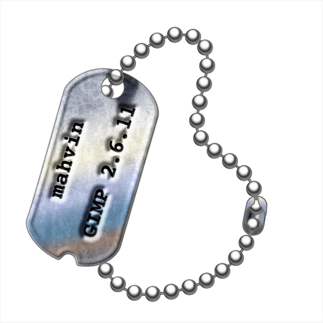 all things gimp gimp tutorial make your own dog tags