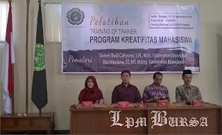 Tigkatkan Kuantitas PKM, UNISNU Jepara Gelar ToT PKM, PKM UNISNU Jepara, Universitas Islam Nahdatul Ulama' Jepara