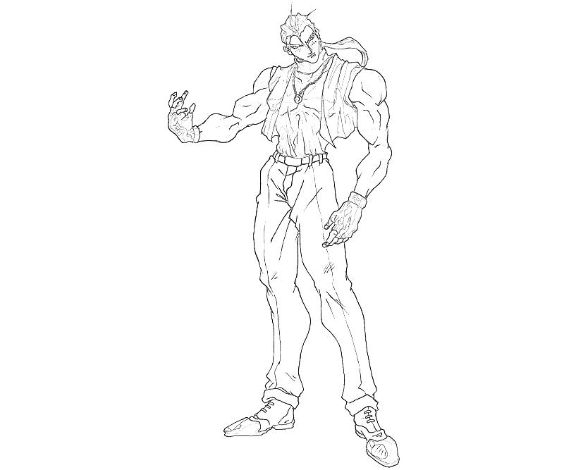 printable-king-of-fighters-robert-garcia-fighting_coloring-pages