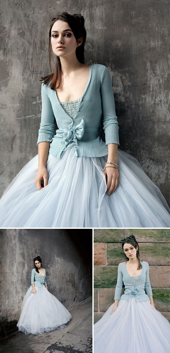 Something Blue Wedding Ideas - Blue Wedding Gown Dress