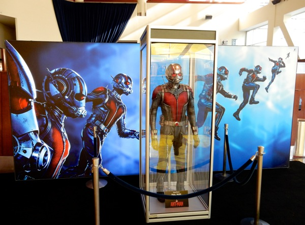 AntMan movie costume display