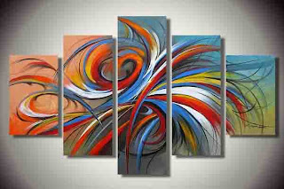 Amazing Abstract Art Painting on Wall