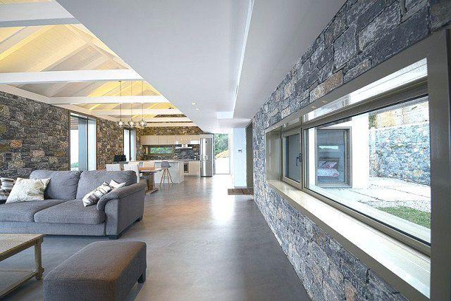 Villa melana moderna casa de campo revestida en piedra - Estilo arquitectura contemporaneo ...