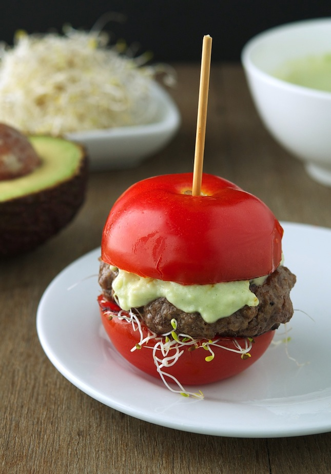 Tomato Avocado Burger
