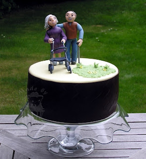 fondant cake granny grandad figures torte geburtstagstorte figuren oma opa