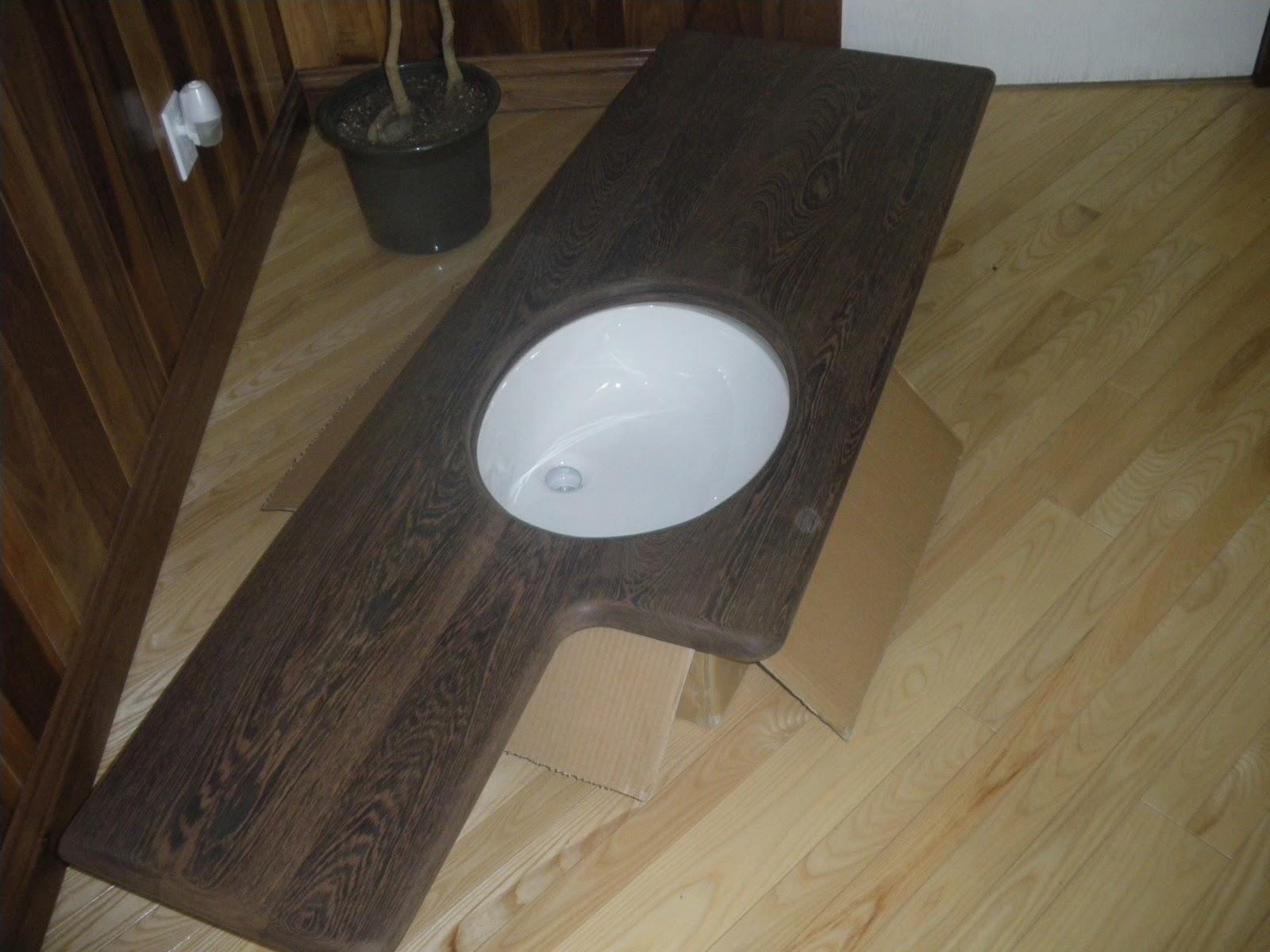 Menuiserie st m thode comptoir en bois pour salle de bain for Comptoir de salle de bain