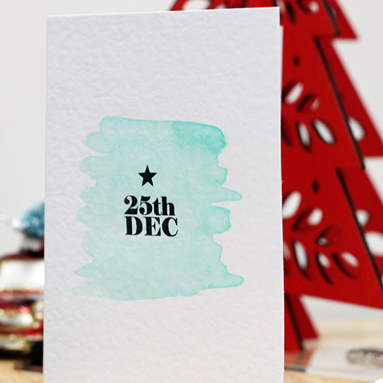 The easiest Christmas card you'll ever make