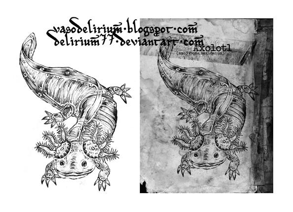 Axolotl tattoo
