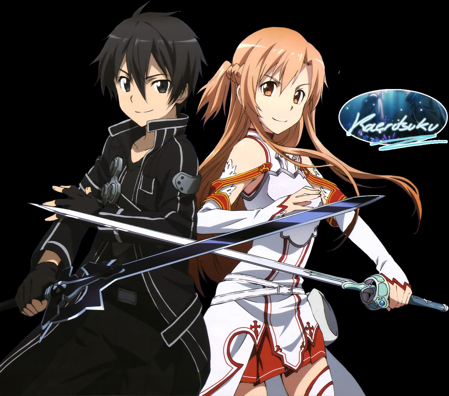 ¿Qué es el anime?  Sword_Art_Online_Kirito_Asuna