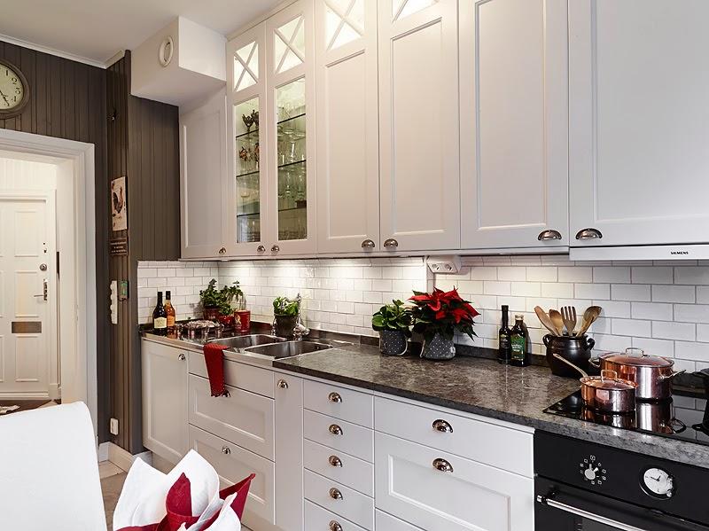 El inevitable blanco en las cocinas escandinavas cocinas - Cocinas tradicionales blancas ...