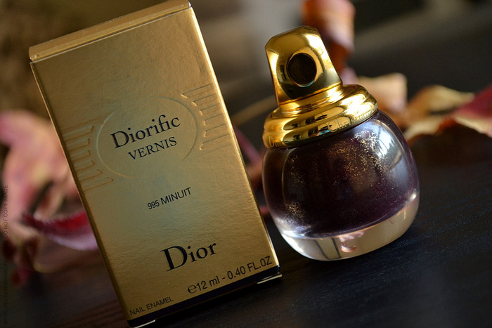 Diorific Nail Vernis Minuit 995 - Photos Swatches Review NOTD - Dior Golden Winter Holiday 2013 Makeup Collection