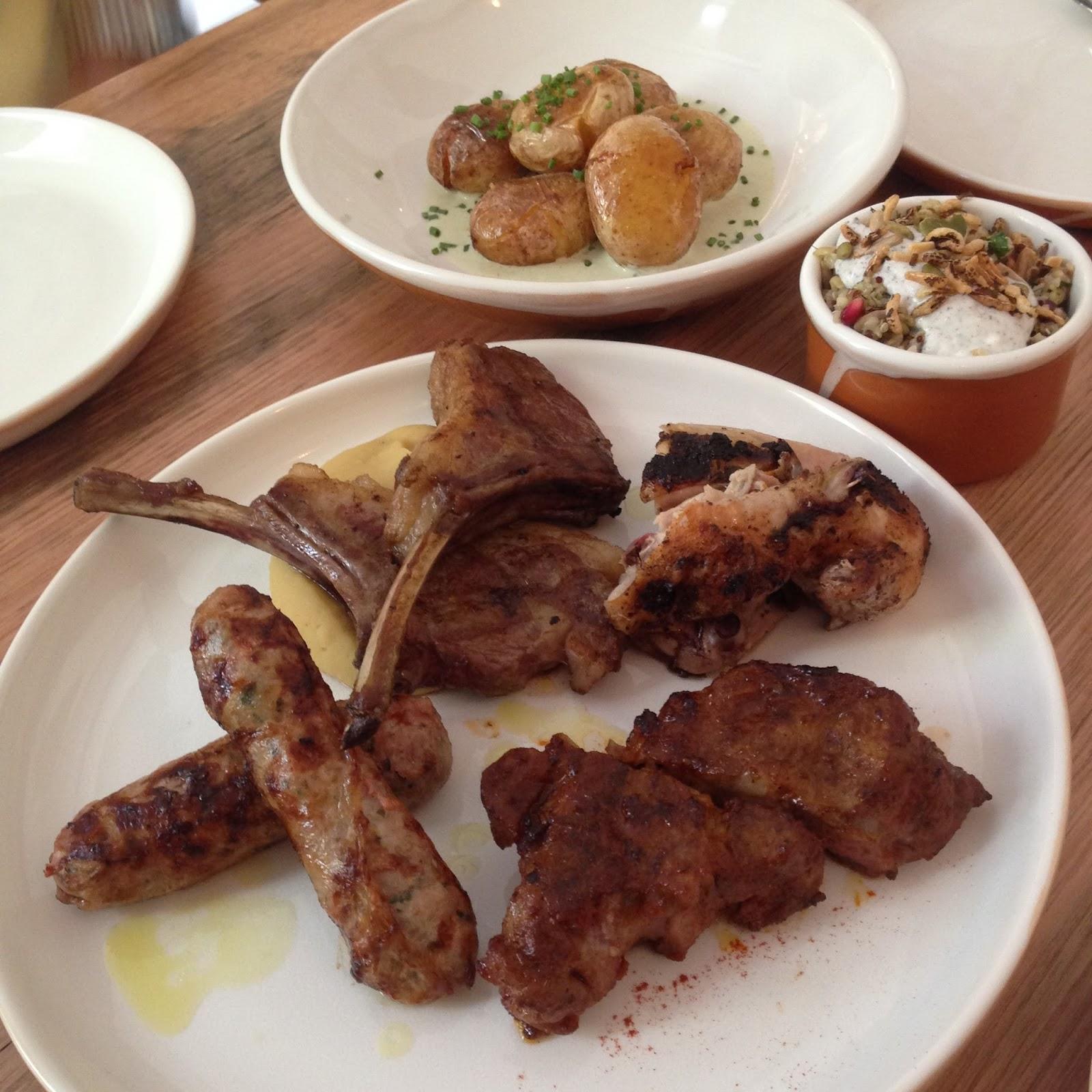 olea, electra house, adelaide, food, king william street, greek, meat, potatoes, ancient grains, tasting plate
