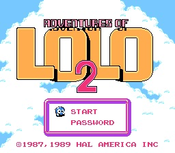 Adventures of Lolo 2 Title Screen