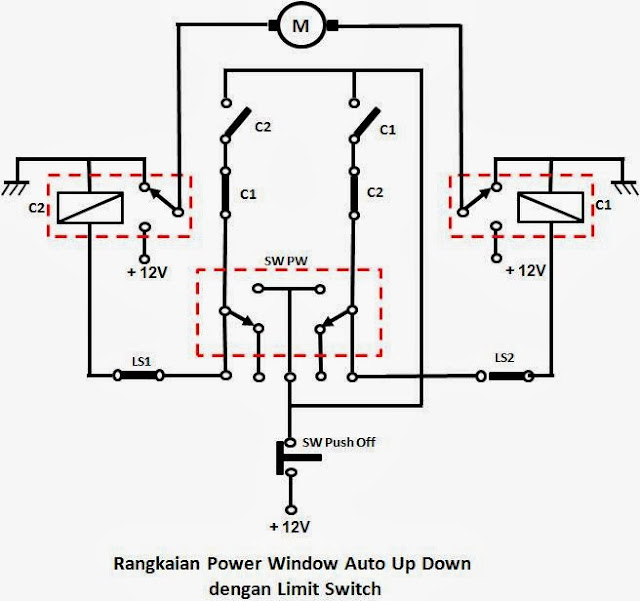 do it your self  saklar power window driver auto up  down