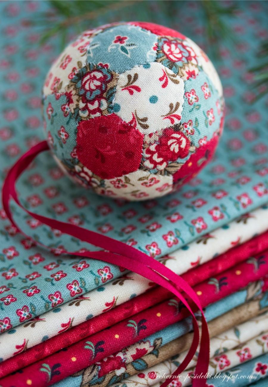 выкройка текстильный шар
