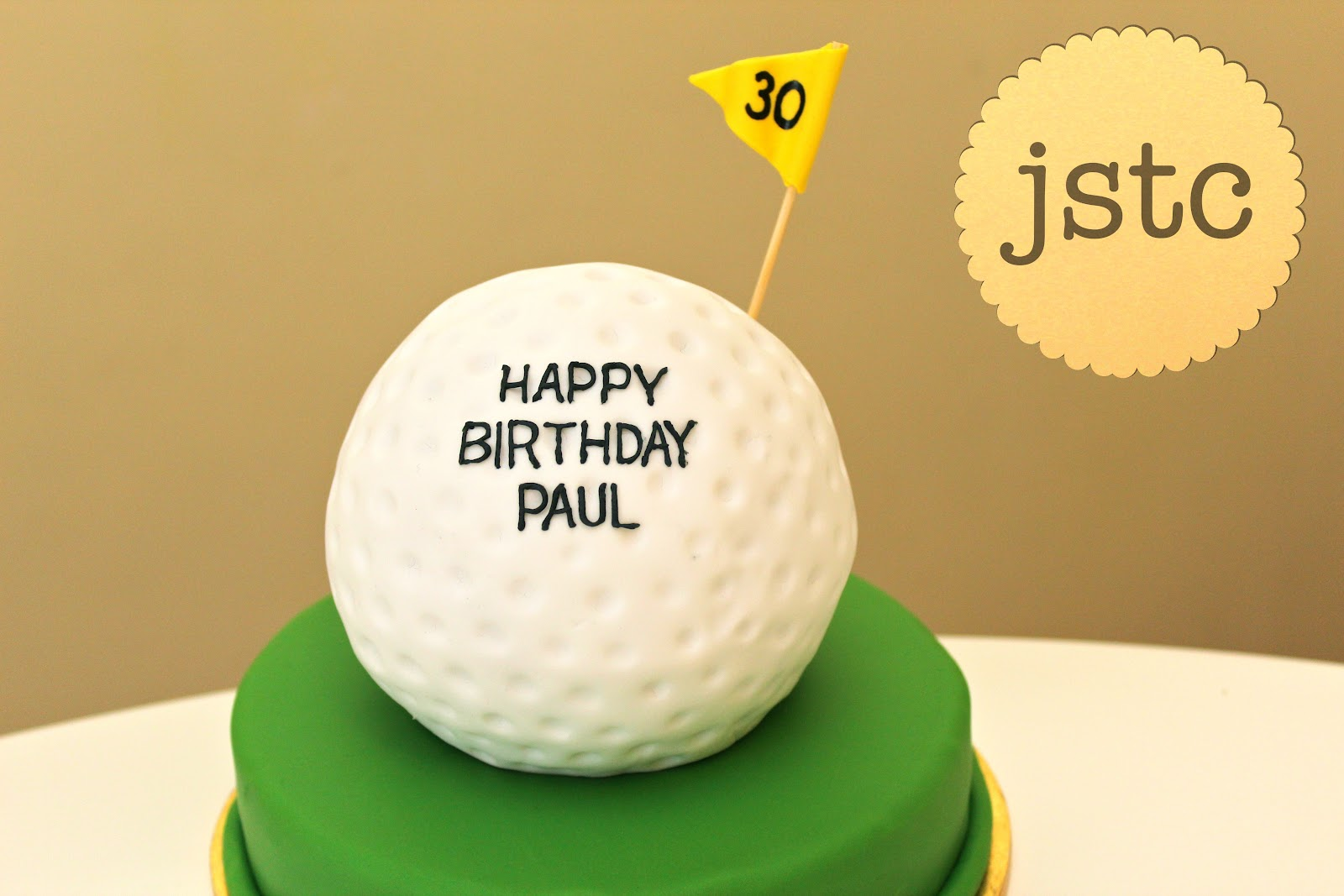 Jemmas Sweet Treat Catering Golf Ball Cake