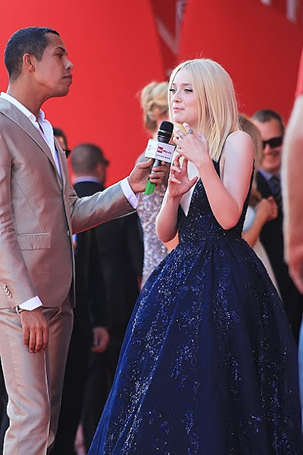 Dakota Fanning with Livio Beshir