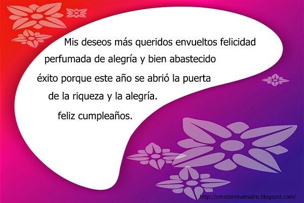 sms anniversaire en espagnol