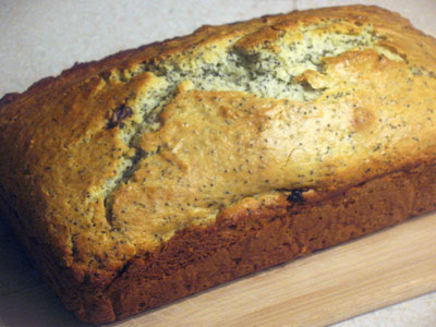 Poppy Seed Loaf with Dried Cranberries
