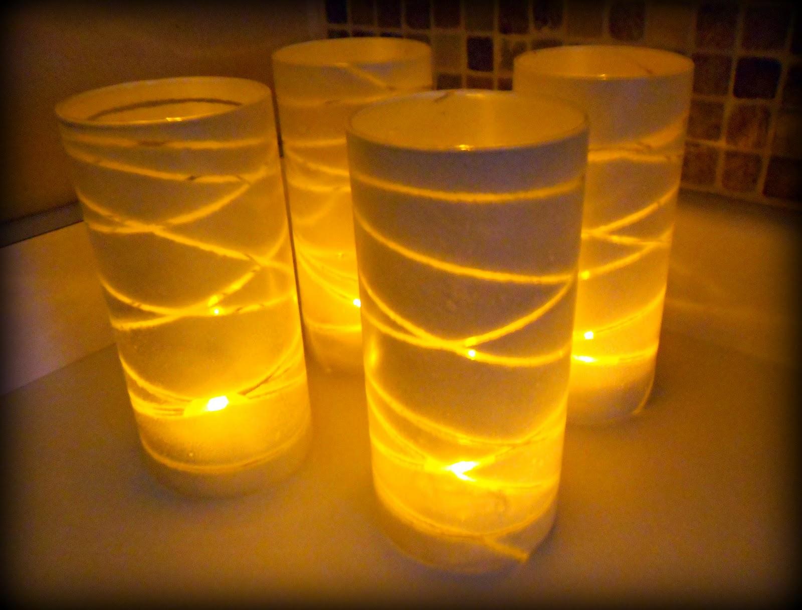 Dollar store glass vase christmas luminaries tutorial for Making luminaries