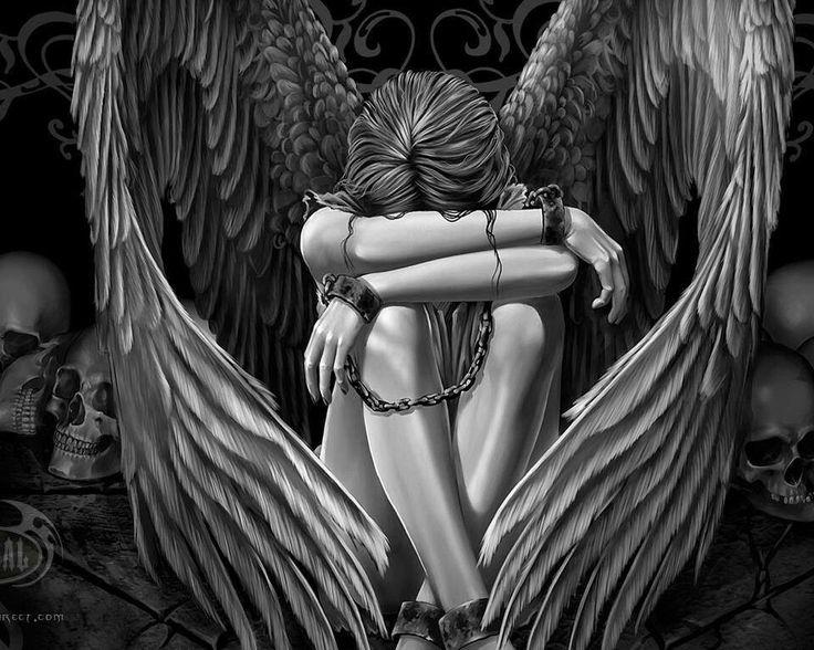 Hình ảnh avatar thiên thần buồn độc đáo 2016