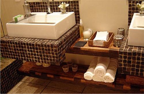 Cores para o Banheiro  Comprando Meu Apê  Comprando Meu Apê -> Pia De Banheiro Rustica