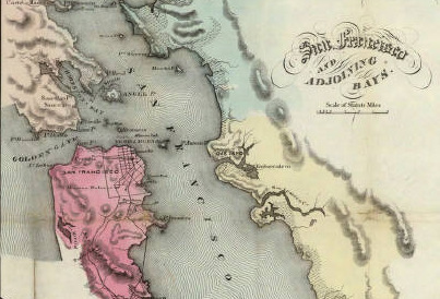 Detail of 1853 map of California from David Rumsey Map Collection