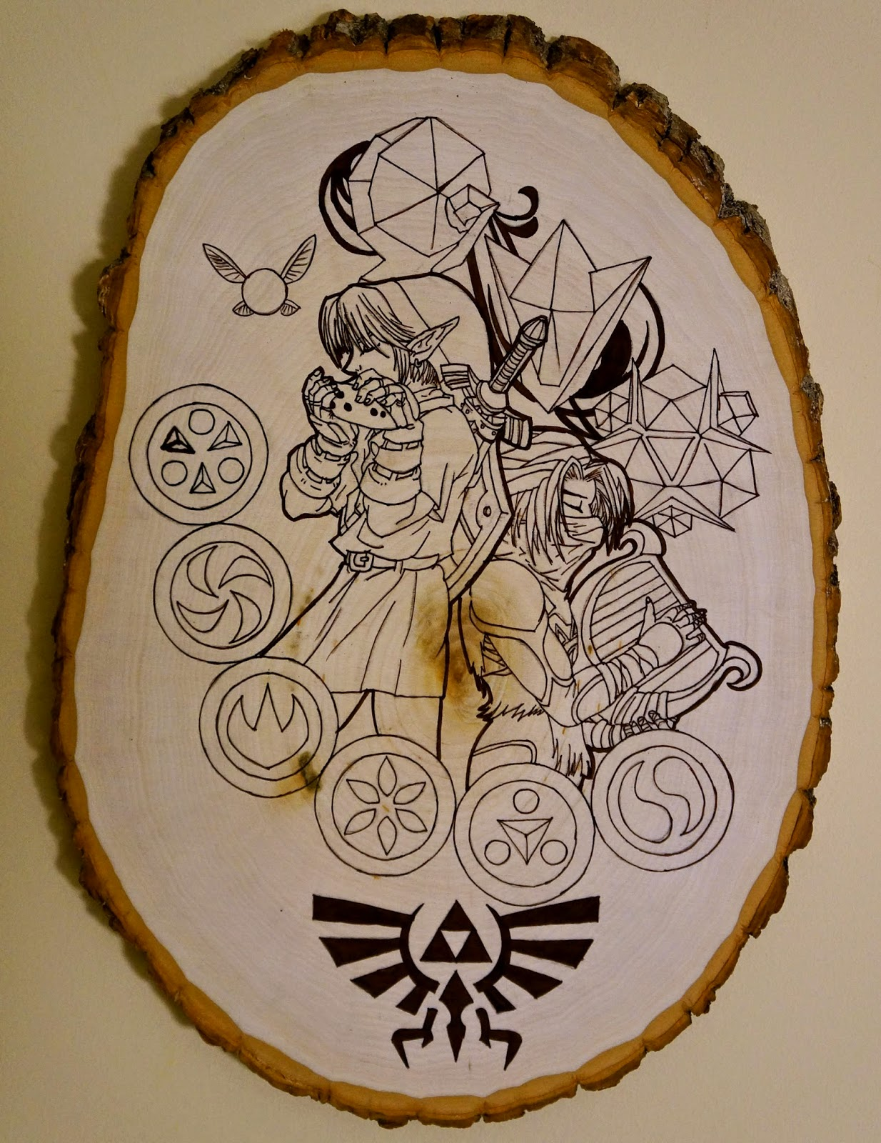 Otaku crafts wood plaque art for Wood plaques for crafts