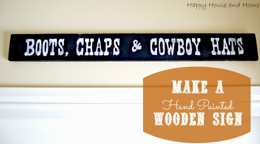 hand painted sign, western decor
