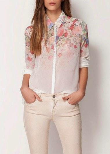 Blusa Vintage Floreada