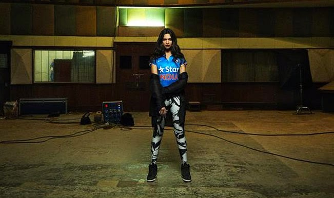 Deepika Turns Heads For World Cup 2015's Bleed Blue Campaign