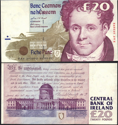 Repubblica d'Irlanda 20 Pound 1997 P# 77b