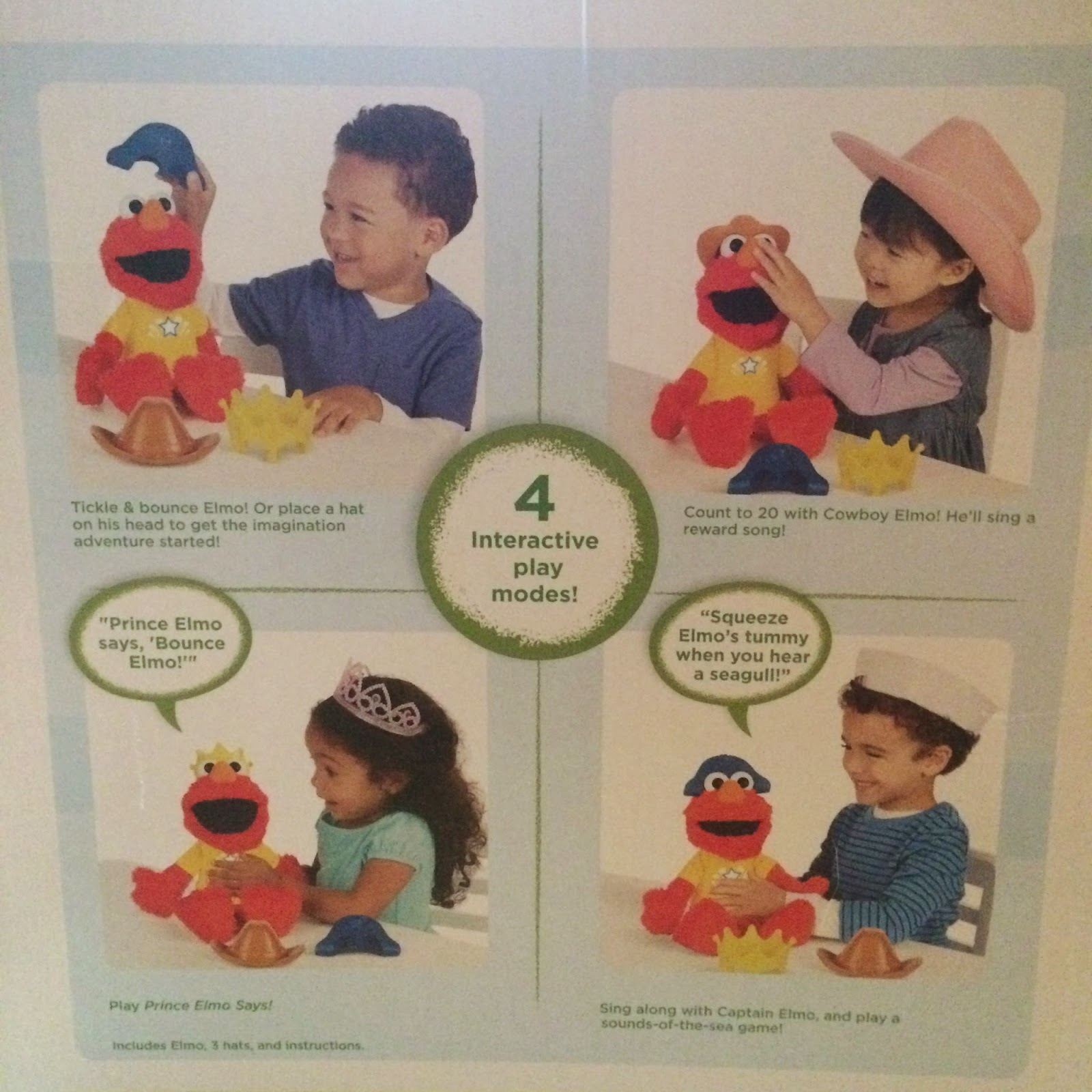 Let's Imagine Elmo toy #review interactive play modes