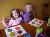 Sorting rainbow goldfish by color.