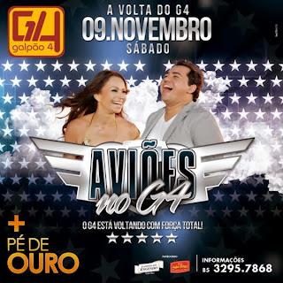 AVIÕES DO FORRÓ NO G4 EM FORTALEZA-CE 09-11-13