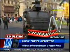 VIDEO :TRABAJADORES DE FENTASE TOMARON PLAZA DE ARMAS DE LIMA