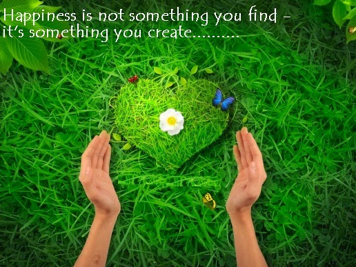 Happiness is not something you find, it is something you create