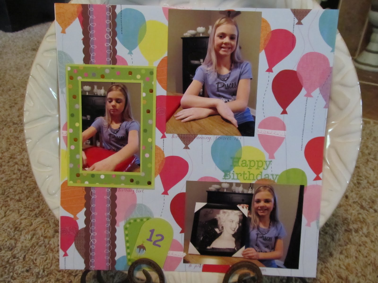 Justin bieber scrapbook ideas - Birthday Morning Opening A Gift Before School She Loves Marilyn Monroe So We Got Her This Print It Goes Well In Her Paris Bedroom