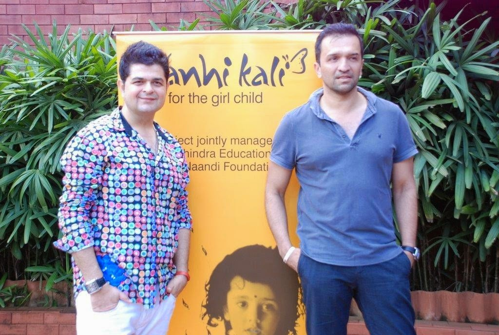 Atul Kasbekar and Dabboo Ratnani at Nanhi Kali event for Mahindras