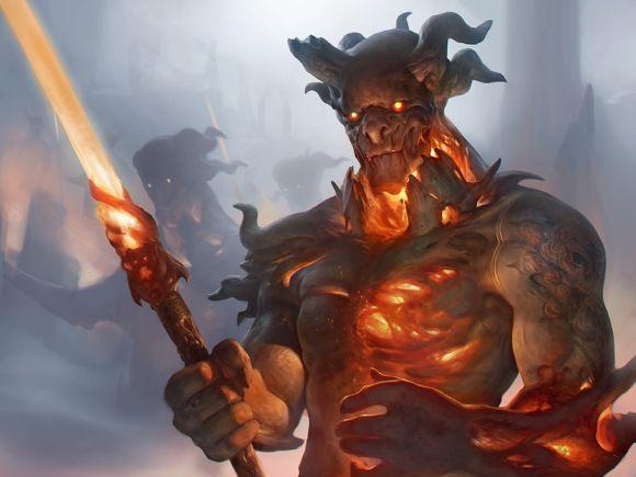 Stepan Alekseev ilustrações digitais fantasia violência Demônio