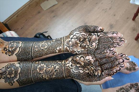 full hand bridal mehndi designs