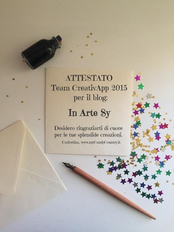 ♡Attestato 2015 Team CreativApp