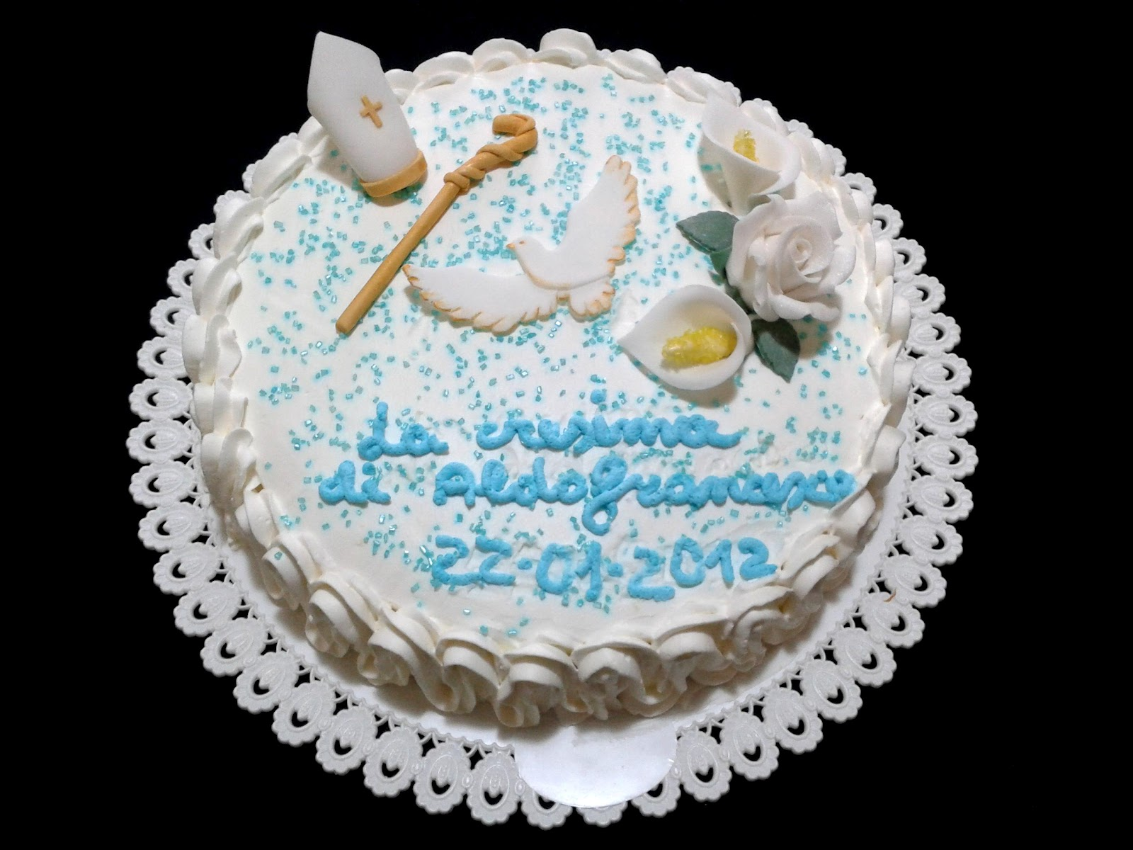 Alessandra e i suoi dolci torta cresima for Decorazioni torte per cresima