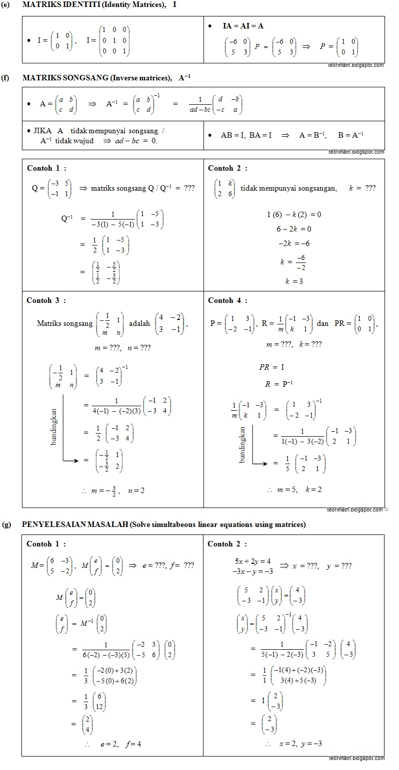 Matriks (Matrices)