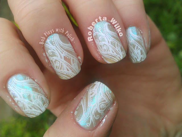 Moyou London Stamping Plate Sailor Collection 04 and 05 with Konad on Sally Hansen