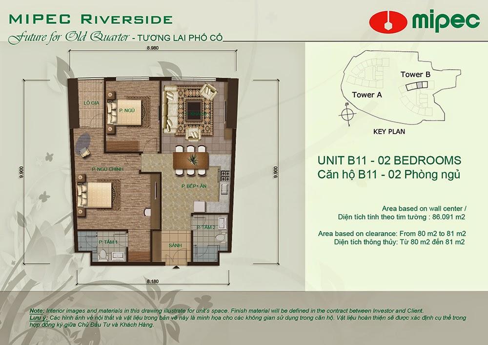 Căn B11 cư xá Mipec Riverside