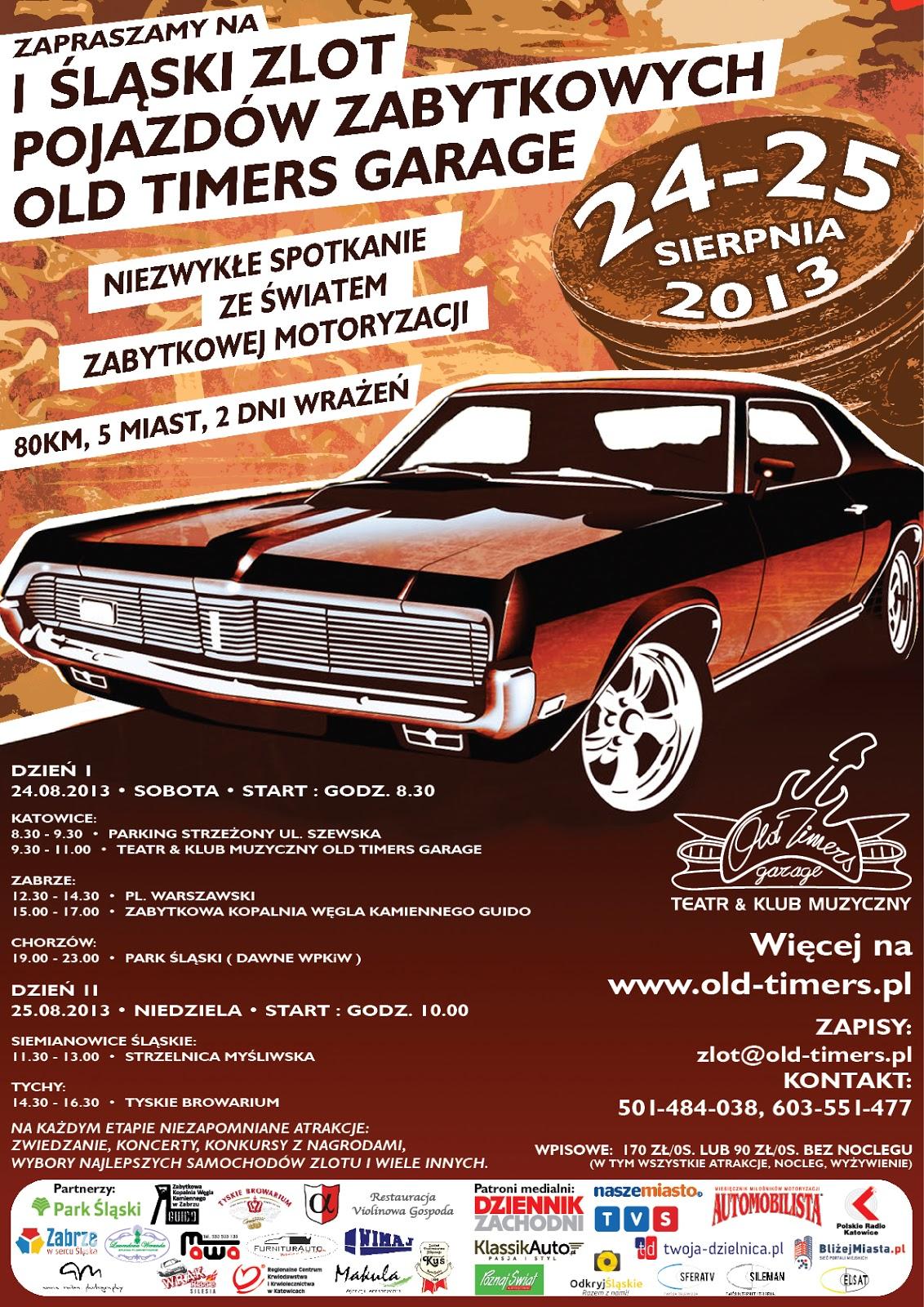 I Śląski Zlot Pojazdów Zabytkowych Old Timers Garage w Tyskim Browarium